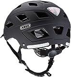 Abus Erwachsene Fahrradhelm Hyban, velvet black, 52-58 cm, 37264-3 -