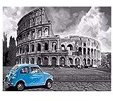 Con Arena Enmarcada Pintura Bricolaje Por Números Viaje En Coche Abstracto Pintura Al Óleo Sobre Lienzo Roma Acrílico Decoración Para El Hogar 40x50cm
