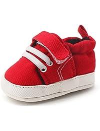 Delebao Scarpe Neonato Calzature per Bambini Scarpe da Ginnastica Bambina Suola Morbida Scarpe Tela Bambina Ragazzi e Ragazza 0-24 Mesi