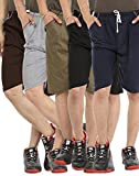 #8: Gumber Casual Hosiery Solid Pack of 5 Multicoloured Solid Shorts For Men And Boys