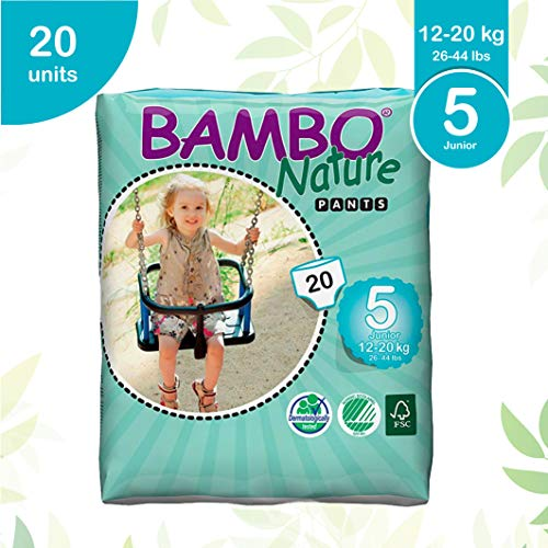 Bambo Nature Junior Größe 5 (12-20 kg) - WC-Training Pull Up-Hose - 20 Stück pro Packung -
