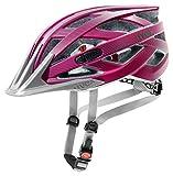 UVEX Erwachsene Fahrradhelm I-VO CC, violett (dark pink mat), 52-57 cm