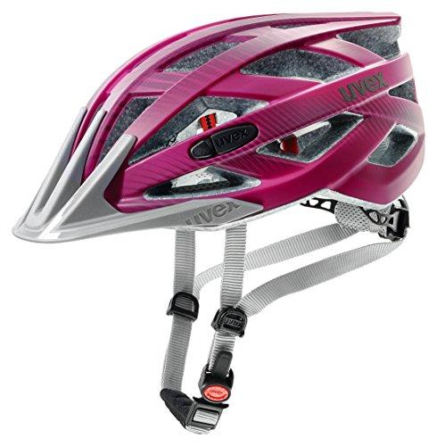 Uvex Erwachsene I-VO CC Fahrradhelm, Dark pink mat, 56-60 cm