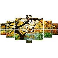 Startonight canvas Wall Art Maple multi, Nature Tree Yellow painting