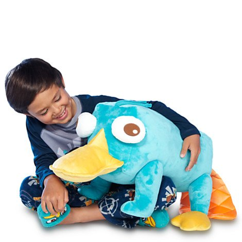 Disney, Phineas and Ferb's Perry the Platypus Plush Soft toy in Jumbo size- 24''