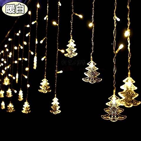 Illuminazione per esterni per case Natale Decorazioni Patio Holiday albero di Natale le luci a LED lampeggianti spie luci,bianco caldo 4 m ghiacciolo luce