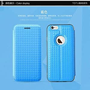 Totu Design [ Lattice Series] Flip Case Cover for Apple iPhone 6 / 6S ( Blue ) - 4.7""
