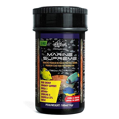 Haquoss Marine Supreme Mangime in Scaglie per Pesci Marini Tropicali, 100 ml/16 gr