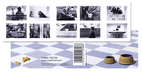 Katzen und Hunde Briefmarken für Porto - 10 x 1st Class selbstklebend Royal Mail Briefmarken. 2001 Katzen und Hunde Briefmarken mit The Country 's Best Loved Pets