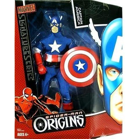 Spider-Man Origins: Marvel Signature Series > Captain America Large Doll by Hasbro - Signature Series Spider