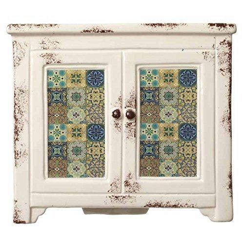 Toller Shabby Chic Übertopf Marokko in Form einer kleinen Kommode - 20 x 17 x 14 cm