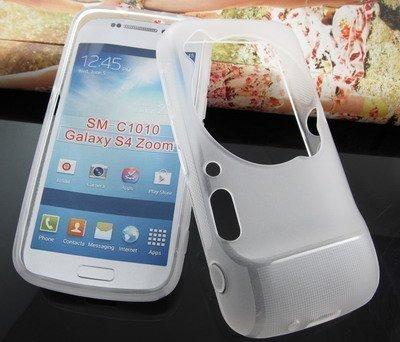 Ledeli Tasche Schutztasche Schutzhülle Case Etui Cover Hülle Reisetasche Halterung Ständer (für Samsung Galaxy S4 Zoom SM-C1010 in Weiß/Transparent)