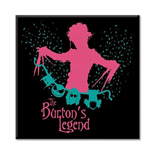 Leinwand Bild Canvas MAd Tim Burton Edward fantastischen geprägt Jack Hatter Hände von Schere