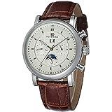 Forsining da uomo Business-Calendario-orologio da polso con fasi lunari...