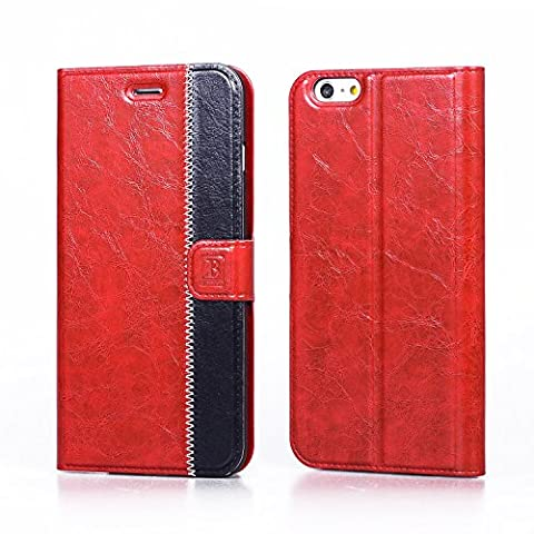 iPhone 6s Leather Case, AiBOUSA® PU Leather Wallet Case with [Kickstand] [Card Slots] [Magnetic Closure] Flip Cover Case for iphone 6/6s