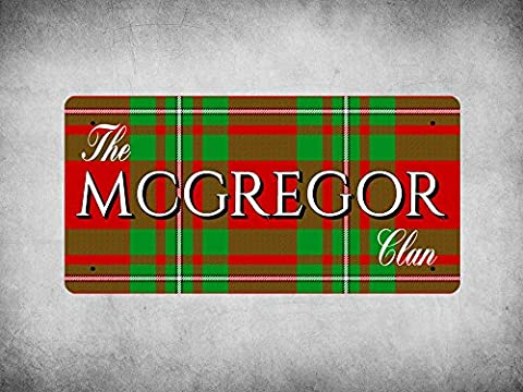 WP_CLAN_241 The MCGREGOR Clan (MacGregor Modern Tartan) - Metal Wall Plate
