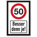 DankeDir! 50 Jahre Besdenn je, Kunststoff Schild - Geschenk 50. Geburtstag, Geschenkidee Geburtstagsgeschenk Fünzigsten, Geburtstagsdeko/Partydeko / Party Zubehör/Geburtstagskarte