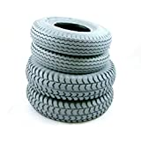Set of 4 Grey Tyres for Sapphire 2 (2 x 3.00-4)( 2 x 2.80/2.50-4) Cheng Shin