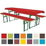 Bierbankauflagen Set 3teilig Comfort XS für 50cm Tische Rot