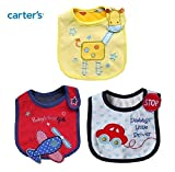 #8: 3pcs Lovely Cute Cartoon Pattern Toddler Baby Saliva Towel Soft Cotton Baby Bibs (Aeroplane, Car & Giraffe)