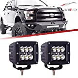 "18w 3"" faro da lavoro led barra a led per 4x4 fuoristrada off road fari led fuoristrada barra led luce da lavoro faro lavoro flood led led light bar trattore moto barca quad Pikup ATV 12v-24v"