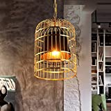 Wapipey Nordic Postmodern Minimalist Kreative Metall Schmiedeeisen Vogelkäfig Kronleuchter Beleuchtung Persönlichkeit Bar Restaurant Droplight Dekoration E27