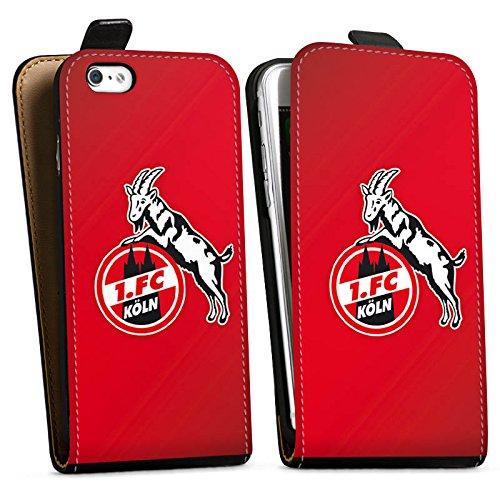 Apple iPhone 6 Tasche Hülle Flip Case 1. FC Köln Fanartikel Fußball Downflip Tasche schwarz