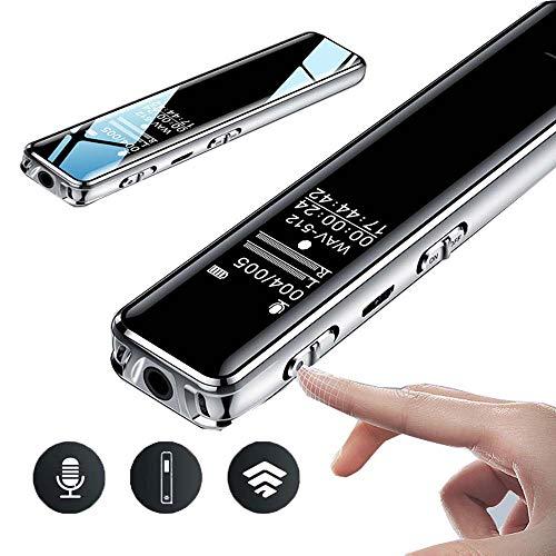ZYG.GG MP3-Player Diktiergerät Musikspieler HiFi-Sound Metall Material Berühren Sie die Schaltfläche Eingebauter Lautsprecher Diktiergerät, Unterstützung 64 GB SD-Karte,32GB -