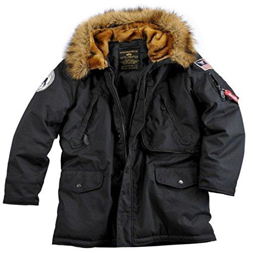Alpha Industries Polar Jacket, Größe:M;Farbe:black Alpha Parka