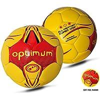 OPTIMUM - Balón de Balonmano para Hombre, Color Amarillo, tamaño Talla 3