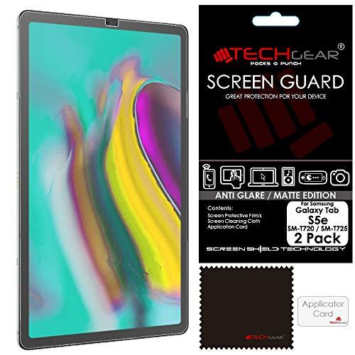 TECHGEAR [2 Stück Matte Displayschutzfolien für Samsung Galaxy Tab S5e 10,5 Zoll (SM-T720 / SM-T725), Matte Anti Glare Blendschutz Schutzfolie für Galaxy Tab S5e 10,5 (SM-T720 Serie) T720 Serie