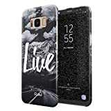 Glitbit Samsung Galaxy S8 Hülle Love Life Inspirational Motivation Quote Explore Mountains Landschaft Natur Berge Zitat
