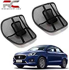 Riderscart Universal Back Rest with Mesh Support Lumbar Support Pillow, Back Pain Support Cushion, Car Cushion Black