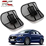 #4: Riderscart Universal Back Rest with Mesh Support Lumbar Support Pillow, Back Pain Support Cushion, Car Cushion Black
