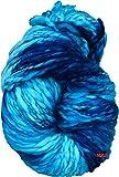 #7: M.G Sumo Blue Wool Hand knitting / art craft soft fingering crochet hook yarn, needle knitting thread dyed, Thick chunky 200 gm…
