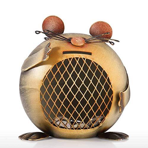 Tooarts Spardose aus Metall mit niedlicher Maus Form Tier-Spardose Kreative Geschenke Handarbeit Ornament -