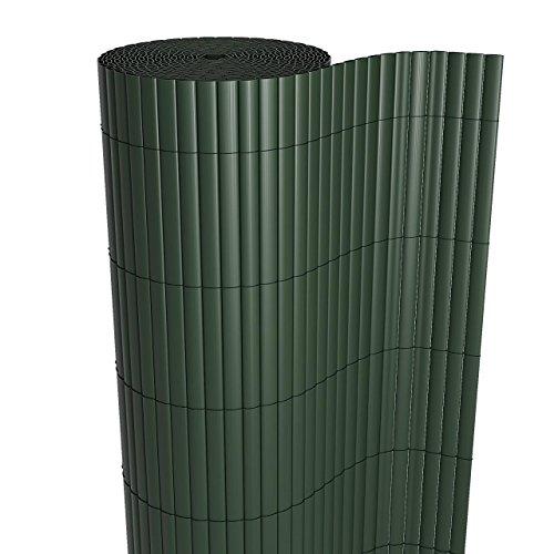 Homelux Sichtschutzmatte Windschutz Balkonverkleidung Garten Blende PVC Zaun UV-Resistent Wetterfest Schnelltrocknend 180 x 300 cm Farbe: GRÜN (Grün Garten-zaun)