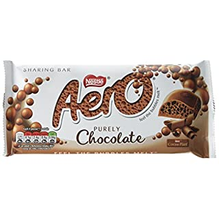 Aero Bubbly Giant Milk Chocolate Bar, 100 g, Pack of 15