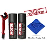 #9: Motul Combo of C2 and C1 (150 ml) with GrandPitstop Bike Chain Cleaning Brush Red and Microfiber Cloth