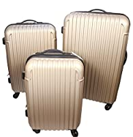 Quasaro Set of 3 Lightweight Hard Suitcases