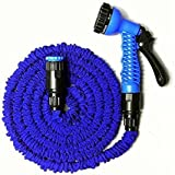 KANTHI 100 FT Expandable Garden Hose And 7-Pattern Spray Nozzle With Shut-Off Valve And Universal Water Hose Connectors, Multi (100 Feet & 30 Meters)