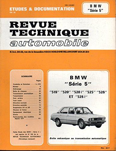 REVUE TECHNIQUE AUTOMOBILE N° 356.2 BMW SERIE 5 par E.T.A.I.