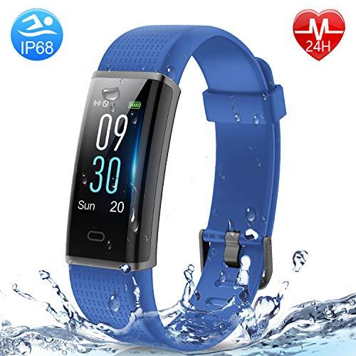 HolyHigh Fitness Tracker Smart Watch- 130C Blue