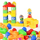 mAjglgE Bloque Educativo para niños de 30 Piezas de Bloques de construcción de Bloques de Bloques de construcción de Bloques de Colores ensamblados