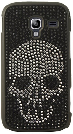 Mocca Design - Cover per Samsung Galaxy Ace 2 con Teschio di Cristalli