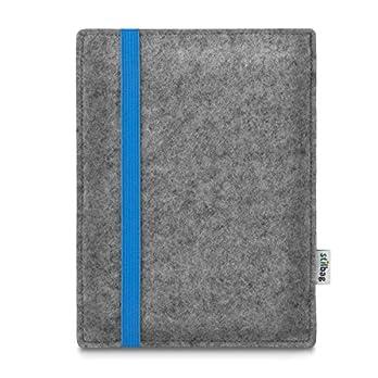 Stilbag maßgeschneiderte eReader-Hülle LEON | Farbe: hellgrau-blau | eBook Reader Tasche aus Filz | e-Reader Schutzhülle | Tasche Made in Germany