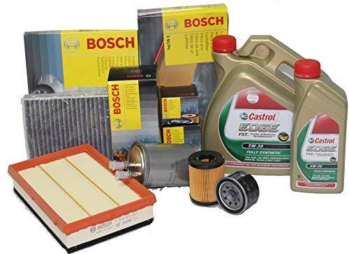 BH Kit Cambio Olio CASTROL LT6 5W30 Long Life + 4 FILTRI Bosch per Mercedes Classe A160- A180- A200 CDI W169, Mercedes Classe B 180 -B200 CDI W245.
