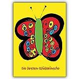1 Geburtstagskarte: Verschicken Sie die besten Glückwünsche mit dieser schönen Schmetterlingskarte