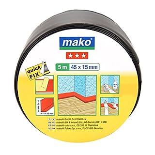 mako Sockelleiste selbstklebend 45mm x 5m, schwarz