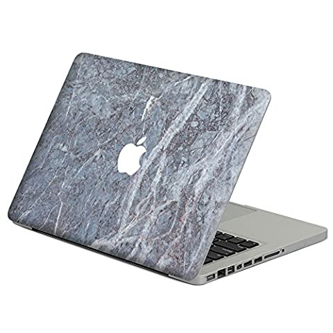 caroki Marmor Stil volldeckend, Schutzhülle Vinyl Aufkleber Aufkleber Skin für Apple MacBook Dark Blue&Purple Marble MacBook Air